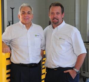 The owners of Sun Valley Imports: Steve Yacovone, left, and Juergen Ankert.
