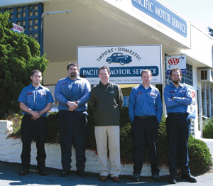 The Pacific Grove team includes, from left: Scott Trainer, Dustin Starr, Mark Lavin, Kyle Simpson and Brian Gayer.