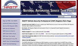 One click away from the NASTF homepage, you can get information about the VSP program.
