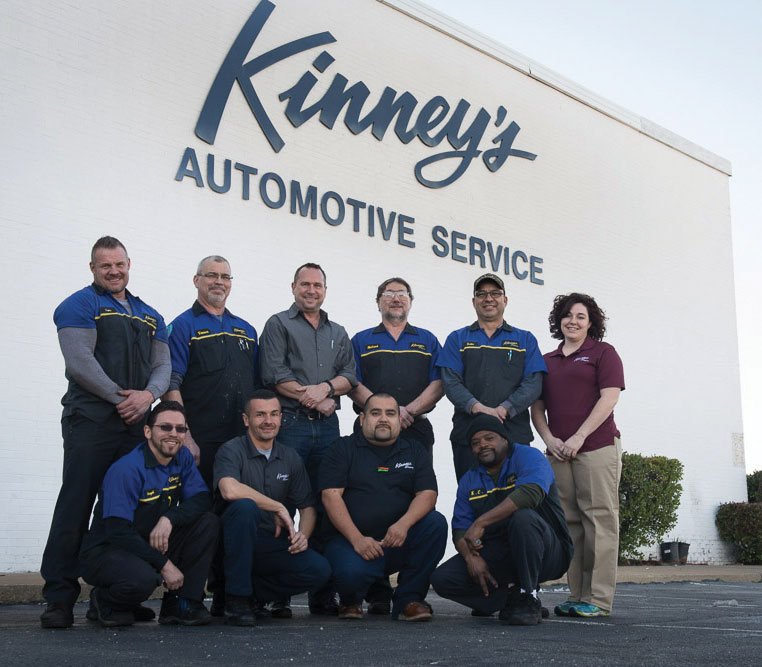 The Kinney's team includes (from left, standing): Sam Sanders, Vernon Campbell, Joe Jurosek, Richard Kral, Luis Narvaez and Heidi Seely. (From left, kneeling): Angel Robles, Edwin Negron, Dante Garza and K.C. Compton. (Not pictured: Brian Anderson and Colton Fisher.)