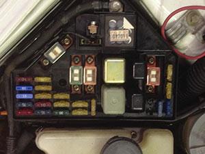 Figure 2: Under-hood fuse block.