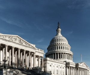 Capitol Building With Blue Sky From Side View Washington Dc Picture Id1079023448