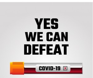 Yes We Can Defeat Covid19 Coronavirus Prevention Poster With Signs Vector Id1209737664