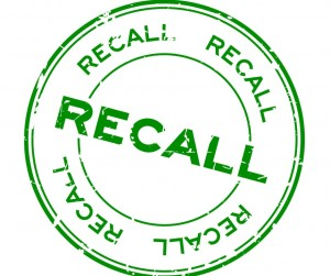 Grunge Green Recall Round Rubber Seal Stamp On White Background Vector Id957380266