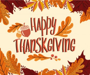 Happy Thanksgiving Day Background With Lettering And Illustrations Vector Id1182254865
