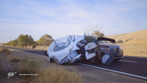 Test Vehicle Colliding With Simulate Disabled Vehicle 1024x576