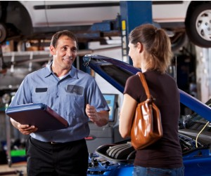 Auto Mechanic With Customer Picture Id172421050