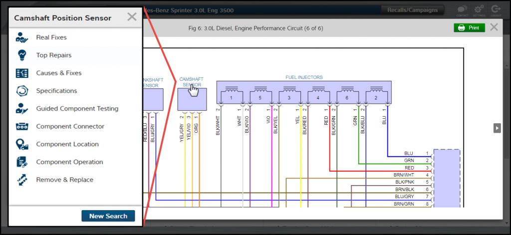 M1 Interactive Wiring Diagram Camshaft Position Sensor